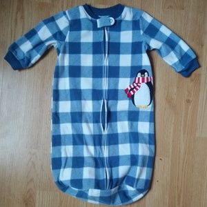 Carter's Blue and White Checkered Sleep Bag